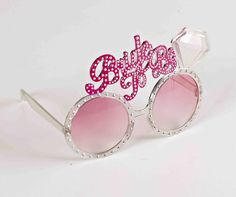 Party it up with these pink shades that come embellished with rhinestones and a large 'Bride To Be' status up top with a diamond. Rhinestone Studded Bride To Be Glasses with Diamond, Bachelorette Party Favors, Bridal Shower Toys Hen Party Accessories, Costume Accessories, Bachelorette Party Favors, Hens Night, Party Gifts, Round Sunglasses, Engagement, Bride, Diamond