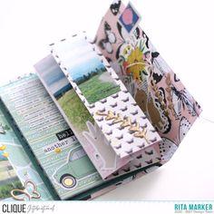 Mini Scrapbook Albums, Mini Albums, Snail Mail Flipbook, Diy Mini Album, Heidi Swapp, Book Making, Travelers Notebook, Junk Journal, Decorative Boxes