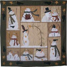 winter wall wool applique | Snowman quilt Idea, Applique Quilts, Quilt Patterns, Flake, Snowmen ...