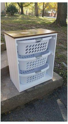 Laundry Basket Holder, Laundry Basket Organization, Laundry Room Organization, Laundry Room Design, Laundry Sorter, Laundry Decor, Laundry Basket Storage, Laundry Basket Dresser, Laundry Rooms