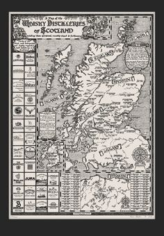 Image of The Whisky Map of Scotland (with mount)