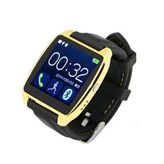 Luxury Bluetooth Smartwatch Pedometer Anti-lost Wristwatch for Android Samsung HTC (Gold) Smart Bracelet, Watch Sale, Gifts For Father, Cell Phone Accessories, Smart Watch, Bluetooth, Android, Time Time, Samsung