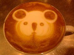 latte art koala