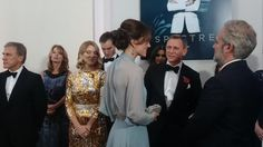 The Duchess of Cambridge attend Royal World Premiere of 'Spectre' Princess Estelle, Princess Madeleine, Crown Princess Victoria, Crown Princess Mary, Princess Charlotte, Princess Kate, Royal Albert Hall, Daniel Craig, Duke And Duchess