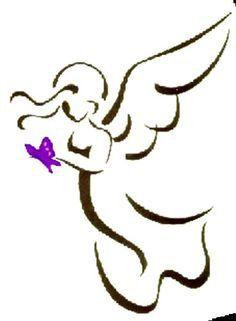 Image result for angel outline tattoo