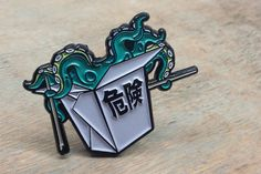 Killer Dish Enamel Pin Badge | Pin Badges | Lapel Pin