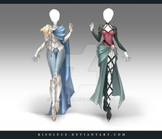 (OPEN) Adoptable Outfit Auction 147 - 148 by Risoluce.deviantart.com on @DeviantArt