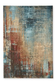 Buy Bronx Salvage Abstract Rug from the Next UK online shop – Malerei Abstract Canvas, Oil Painting On Canvas, Blue Abstract, Faux Painting, Modern Rugs, Modern Art, Contemporary Rugs, Teal Rug, Large Rugs