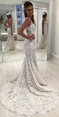 Mermaid Wedding Dresses - In this article we collected unique wedding gowns. We submit fashion forward wedding dresses a variety of fabrics, diffrent styles. Choose one for youself! Unique Wedding Gowns, Modest Wedding Dresses, Perfect Wedding Dress, Bridal Dresses, Wedding Ideas, Wedding Favors, Wedding Invitations, Wedding Wishes, Wedding Trends