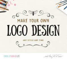 DIY pre-made logo design DIY logo premade logo watercolor floral logo vintage logo business logo website logo blog logo photography logo design  ---------------------------------  Welcome to Daily Logo on Etsy! Our shop is going to be closed before summer because we do not have time at the moment - please visit us at our website DailyLogo.US and we look forward to working with you~  ---------------------------------  Introducing Make Your Own Logo Design - a super easy and affordable way to…