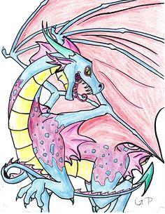 Rainbow Dragon by SlightlyDraconic.deviantart.com on @DeviantArt