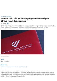 O INE vai censurar questões étnicas nos Censos 2021