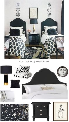 Copy Cat Chic: Copy Cat Chic Room Redo | Dramatic Black Bedroom by @audreycdyer