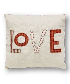 White 'Love' Pillow | Daily deals for moms, babies and kids