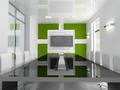 Abstract Graffiti Wall Art Decoration in Modern Office Interior