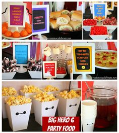 So many ways to make this a fun and healthy party!  From @tocelebrate  Big Hero 6 Birthday Party Themed Food- eventstocelebrate.net #BigHero6Release #ad