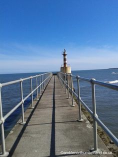End of the pier at Amble