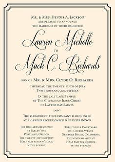Love Logo #16 Wedding Invitation - Traditional Wedding Invitation ...