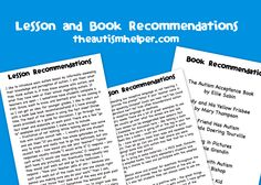 Autism Awareness! Lesson and Book Recommendations for Raising Awareness in Your School! by theautismhelper.com