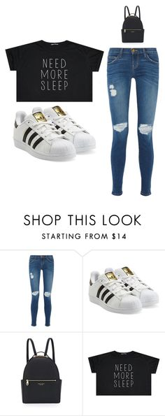 """""""Outfit Idea by Polyvore Remix"""" by polyvore-remix ❤ liked on Polyvore featuring Current/Elliott, adidas Originals and Henri Bendel"""