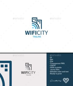 Wifi City - Buildings Logo Templates Download here : https://graphicriver.net/item/wifi-city/18622974?s_rank=135&ref=Al-fatih