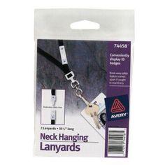 Avery Neck Hanging Lanyards - 2pk - 74458