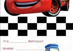 Free Printable Disney Cars Birthday Party Invitations 17 Best Images About Cars On Pinterest | Cars Invitation, Car