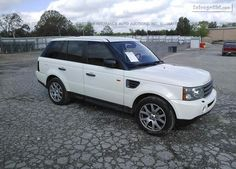 Salvage White #Land Rover Range Rover Sport Online Auction at Bowling Green, KY. Bid Now!