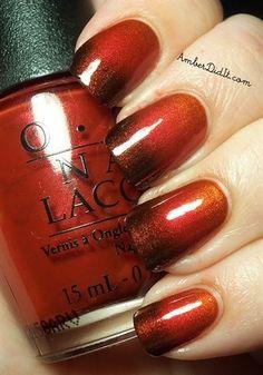 OPI Germany Gradient - Nail Art