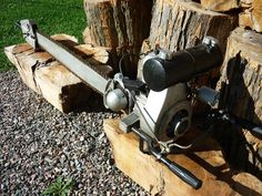 Imagine using this chainsaw all day. IEL model K 1939.