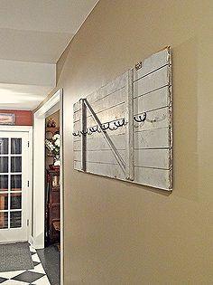 barn door turned coat rack, cleaning tips, doors, repurposing upcycling