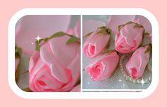 Como fazer lindos botões de rosa com fita de cetim