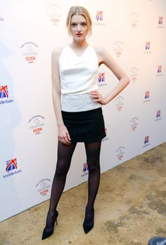 Lily Donaldson pictures and photos Pictures Of Lily, Lily Donaldson, Black Pantyhose, Leather Skirt, Tights, Mini Skirts, Legs, Black And White, Model