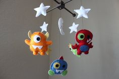 Baby Crib Mobile Baby Mobile by dropsofcolorshop on Etsy, $88.00