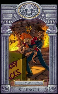 Ghoul School Tarot: Strength by on DeviantArt Cartoon Monsters, Cartoon Games, Ghoul School, Scooby Doo Mystery Incorporated, Good Day To You, Monster Mask, Cartoon Tv Shows, Cartoon Crossovers, Old Cartoons