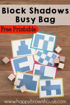 FREE Block Shadows Busy Bags
