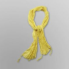 Dream Out Loud by Selena Gomez Junior's Fringe Scarf Yellow