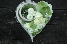 white and green heart