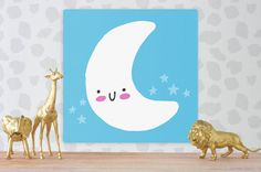 Nursery Canvas Nursery Wall Art Nursery Decor by LilyLima Nursery Canvas Art, Nursery Decor, Kids Rugs, Handmade Gifts, Etsy, Vintage, Home Decor, Kid Craft Gifts, Decoration Home