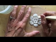 Artful Paper Clay Tutorial 1: How to Sculpt a Simple Flower - YouTube