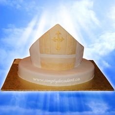 on Cake Central Bishop Mitre, Religious Cakes, King City, Catholic Bishops, Cake Central, 3d Cakes, 40th Anniversary, Celebration Cakes, Custom Cakes