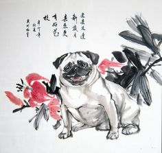 Click to close image, click and drag to move. Use arrow keys for next and previous. Chinese Brush, Chinese Painting, Close Image, Japanese, Arrow Keys, Dogs, Paintings, Art, Art Background