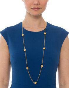 Valencia Gold Station Necklace  | Julie Vos | Halsbrook