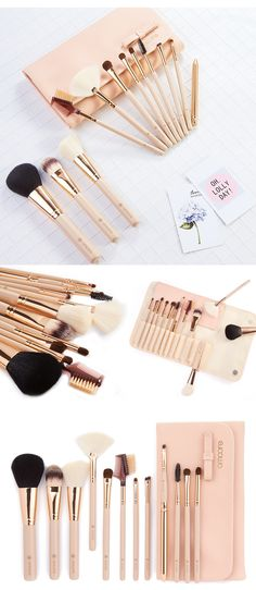 12 Piece Makeup Brushes with Case