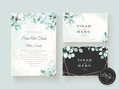 Elegant eucalyptus wedding invitation ca... | Free Vector #Freepik #freevector #wedding #watercolor #wedding-invitation #floral
