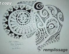 Troisième Dessin de Tatouage d'Armure Maori Polynésien sur l'épaule et les Pectoraux Tribal Shoulder Tattoos, Tribal Tattoos For Men, Polynesian Tattoo Designs, Maori Tattoo Designs, Chest Tattoo Stencils, Storm Tattoo, Maori Patterns, Tiki Art, Sleeve Tattoos