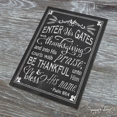 Thanksgiving Chalkboard Printable Choose your by PaperDimeDesign
