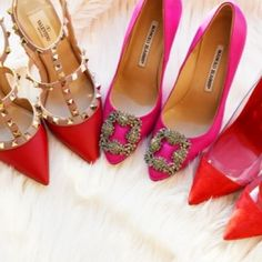 LSC|Style- Pink & red heels luxuryshoeclub.com