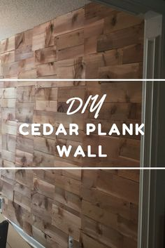 Diy Cedar Wood Accent Wall Cedar Walls Tile Accent Wall