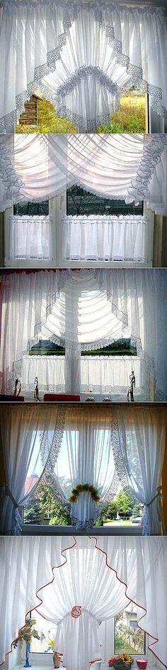 Оформляем окно на кухне: легкие белые шторы - Учимся Делать Все Сами | Дом и уют | Постила